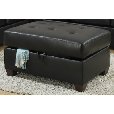Kyle Cocktail Ottoman Upholstery Color: Black