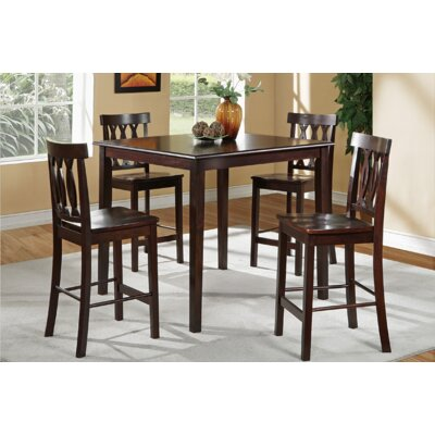 Malik 5 Piece Counter Height Dining Set