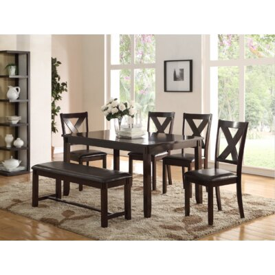 Maria 6 Piece Dining Set Finish: Espresso