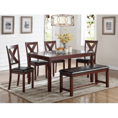 Maria 6 Piece Dining Set Finish: Cherry