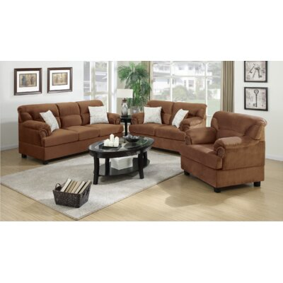 Penny 3 Piece Living Room Set Finish: Saddle