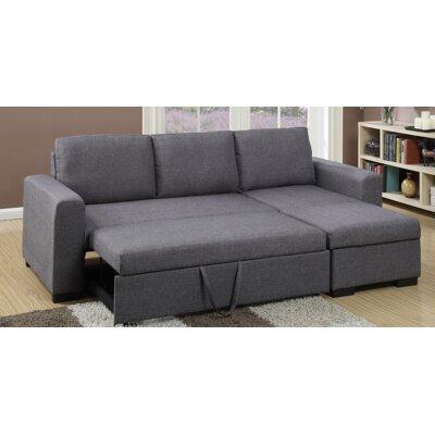 Amanda Sleeper Sectional Upholstery: Dark Gray