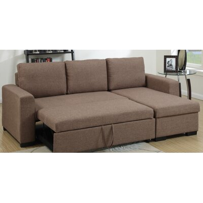 Amanda Sleeper Sectional Upholstery: Light Coffee