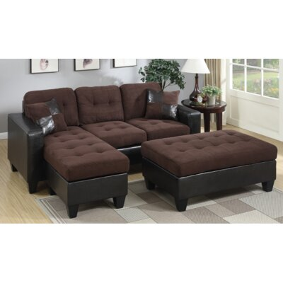 Swain Sectional Upholstery: Chocolate