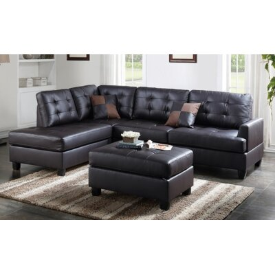 Malz Sectional Upholstery: Espresso