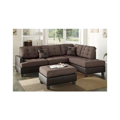 Smart Sectional with ottoman Upholstery: Chocolate