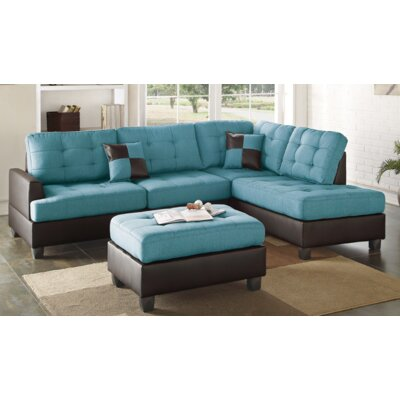 Smart Right Facing Sectional Upholstery: Teal