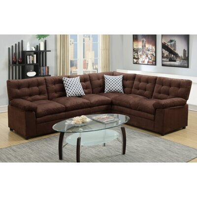 Lin Sectional Upholstery: Chocolate