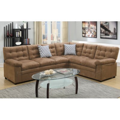 A&J Homes Studio F6WF9A5J7SDL Lin Sectional Finish