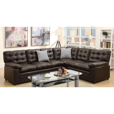 Lala Sectional Upholstery: Espresso