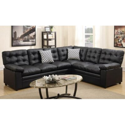 A&J Homes Studio F6WF9A5J9BLK Lala Sleeper Sectional Finish