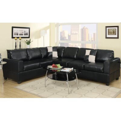 A&J Homes Studio F7WF6A3J0BLK Lisa Sectional