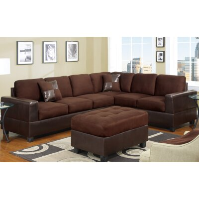 Ada Sectional Upholstery: Chocolate