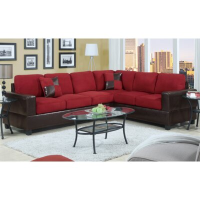 Ada Sectional Upholstery: Red
