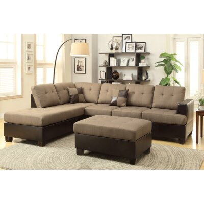 Michael Reversible Sectional Upholstery: Tan