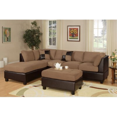 Miller Sectional with Ottoman Upholstery: Saddle