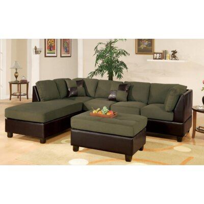 Miller Sectional with Ottoman Upholstery: Sage