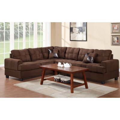 Terry Reversible Sectional Upholstery: Chocolate