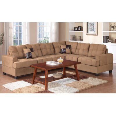 Terry Reversible Sectional Upholstery: Saddle
