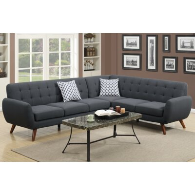 Min Sectional Upholstery: Black