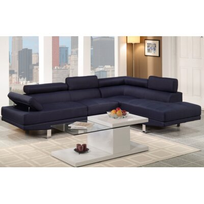Sophia Sectional Upholstery: Blue