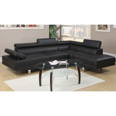 Micky Sectional Upholstery: Black