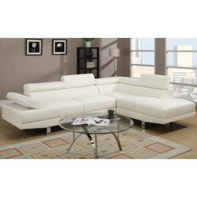 Micky Sectional Upholstery: White