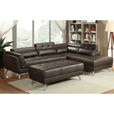Tommy Sectional Upholstery: Espresso