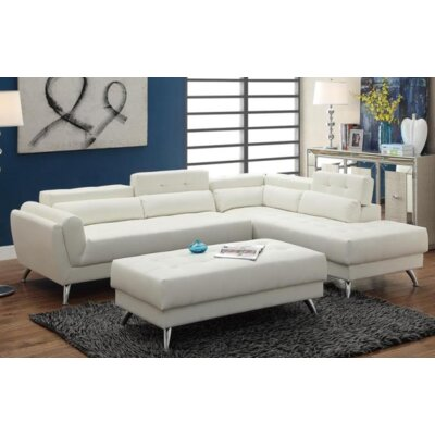 Tommy Sectional Upholstery: White