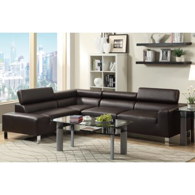 Louis Sectional Upholstery: Espresso