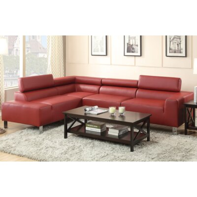 Louis Sectional Upholstery: Red