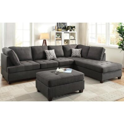Naomi Sectional Upholstery Color: Gray