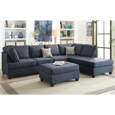 Naomi Sectional Upholstery Color: Blue