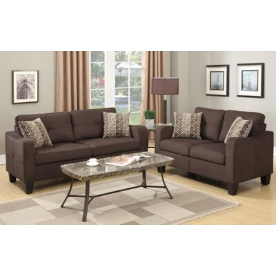 Lincon Sofa and Loveseat Set Upholstery Color: Chocolate