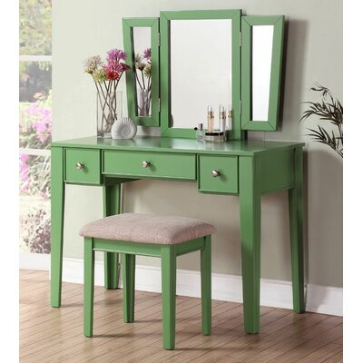 Candy Vanity Set with Mirror