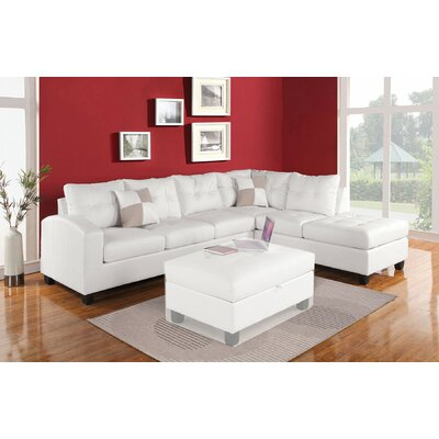 A&J Homes Studio 51WF1A7J5WH Susan Reversible Chaise Sectional