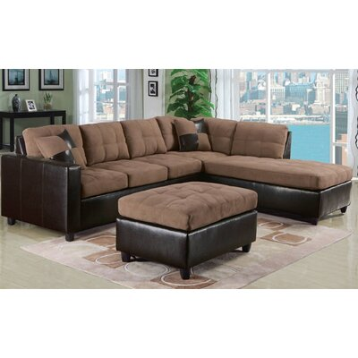 A&J Homes Studio 51WF3A3J0SA Candy Reversible Chaise Sectional