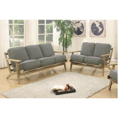 Katarina Sofa and Loveseat Set Upholstery: Gray