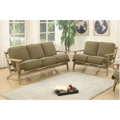 Katarina Sofa and Loveseat Set Upholstery: Willow