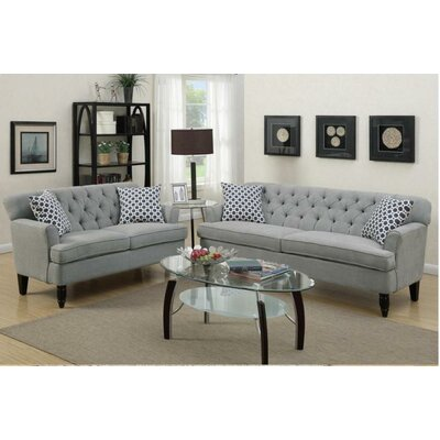 Angel 2 Piece Living Room Set Upholstery: Taupe