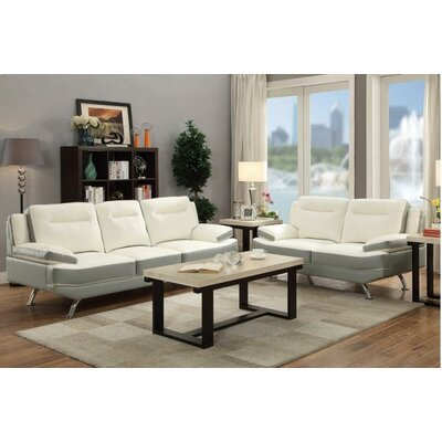 A&J Homes Studio F7W8A9J1WHG Moreno Sofa and Loveseat Set