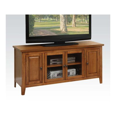 Hanna 55 TV Stand Color: Oak
