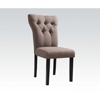 Emily Side Chair Upholstery: Light Brown