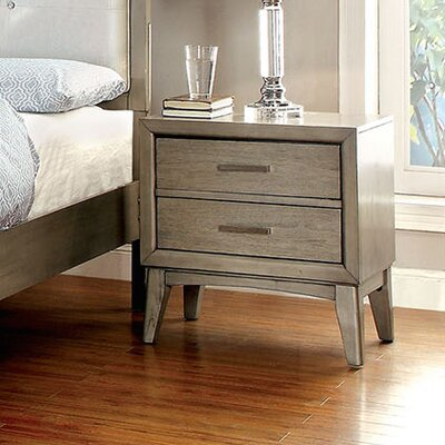 Siding Spring 2 Drawer Nightstand Color: Light Brown
