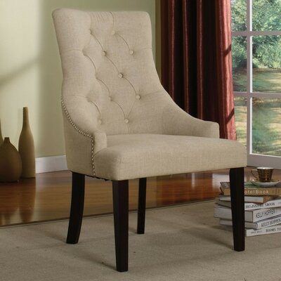 Holly Arm Chair Upholstery Color: Cream
