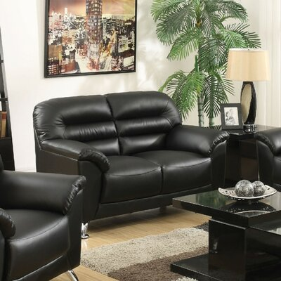 Tammy Loveseat Upholstery Color: Black