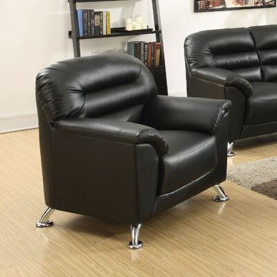 Tammy Club Chair Upholstery Color: Black
