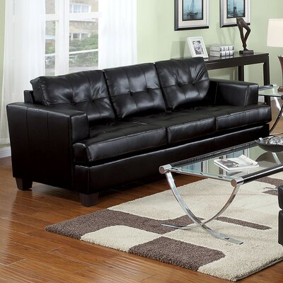 Fremont Sofa Upholstery Color: Black