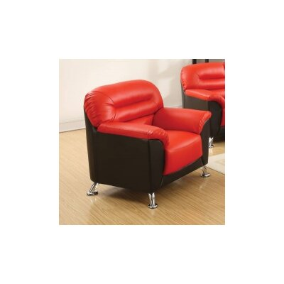 Tammy Club Chair Upholstery Color: Red/Black