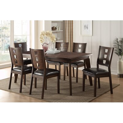 Joey 7 Piece Dining Set Finish: Dark Brown
